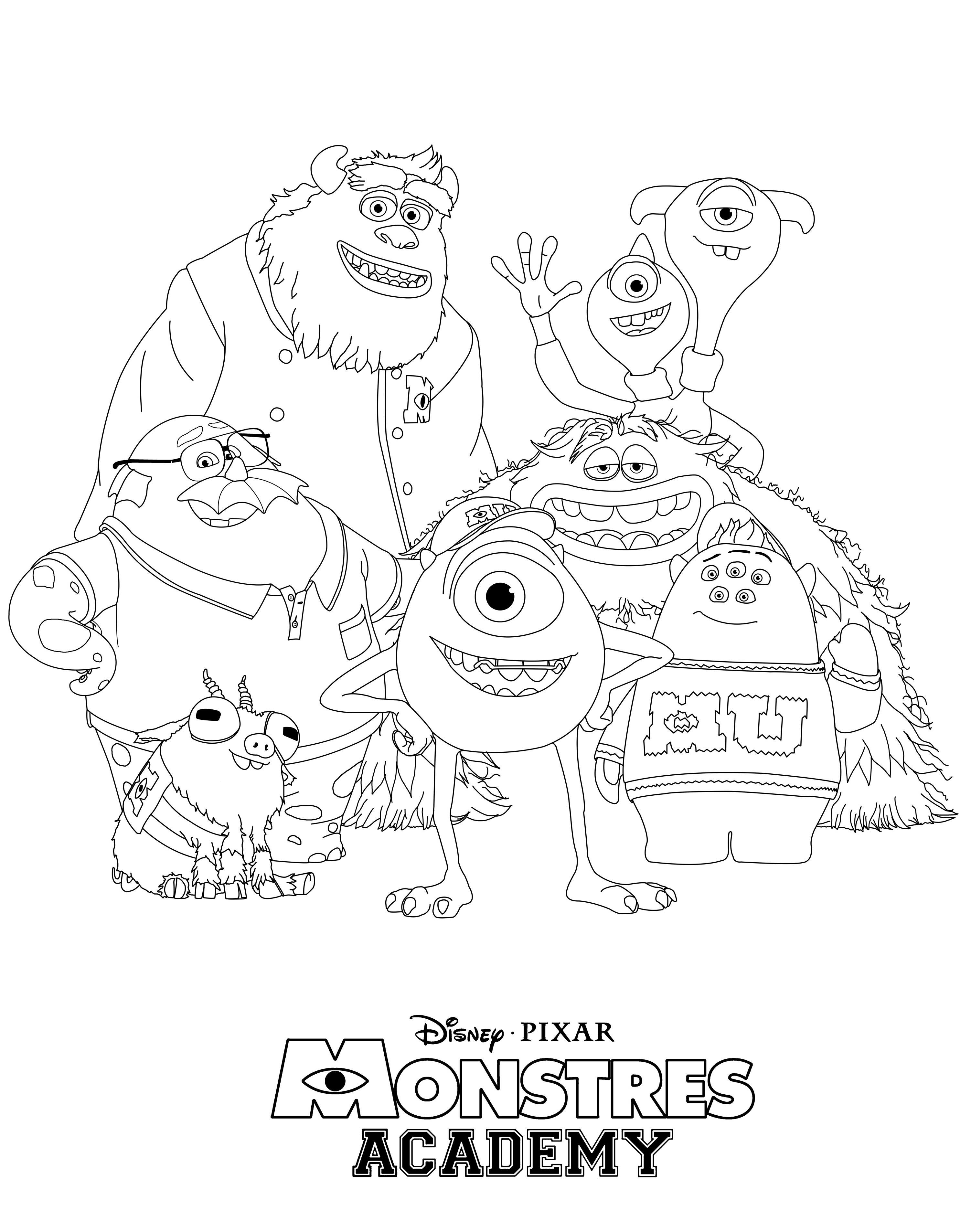 28 Monsters University Coloring Pages   Coloring Home