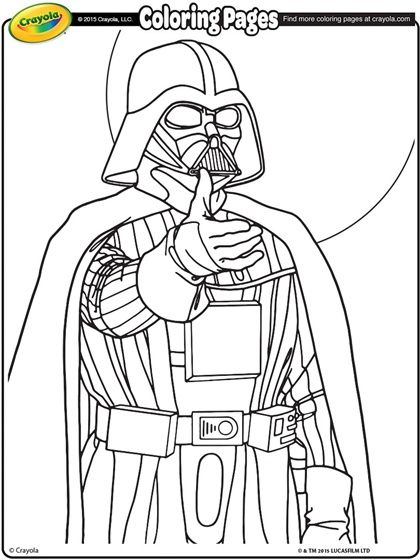 Star Wars Darth Vader Coloring Page | crayola.com