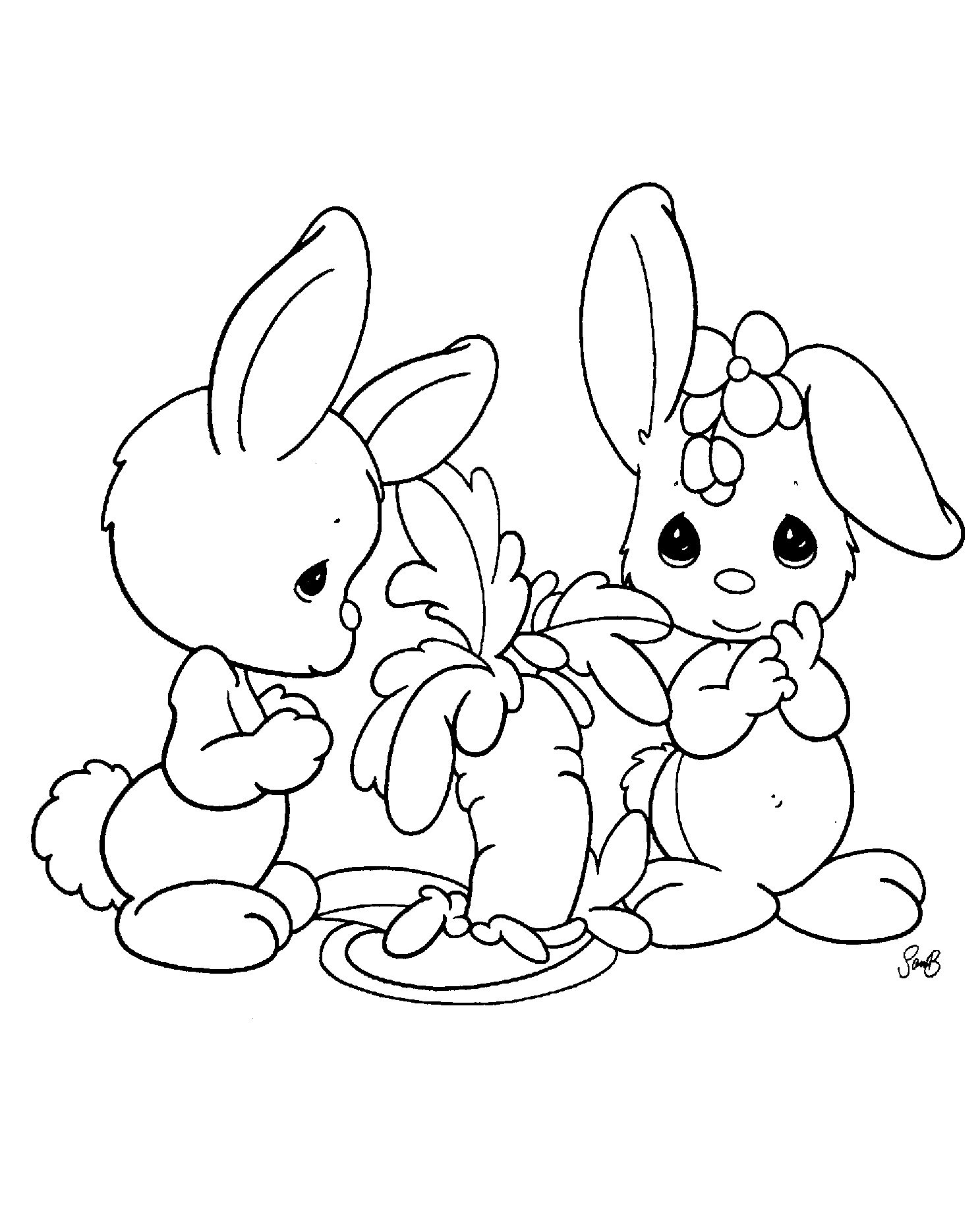 Baby bunny coloring pages coloring home for Baby rabbit coloring pages