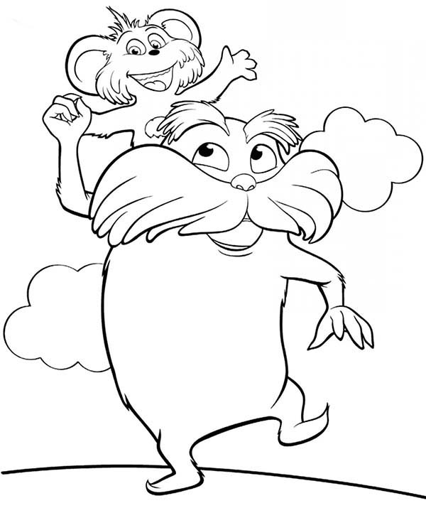 lorax coloring book pages - photo#17