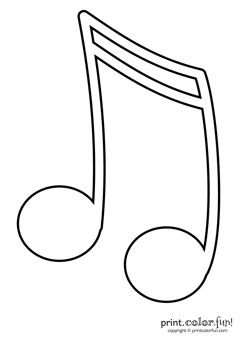 Clip Art Coloring Pages Of Music Notes musical notes coloring pages az music clipart panda free images