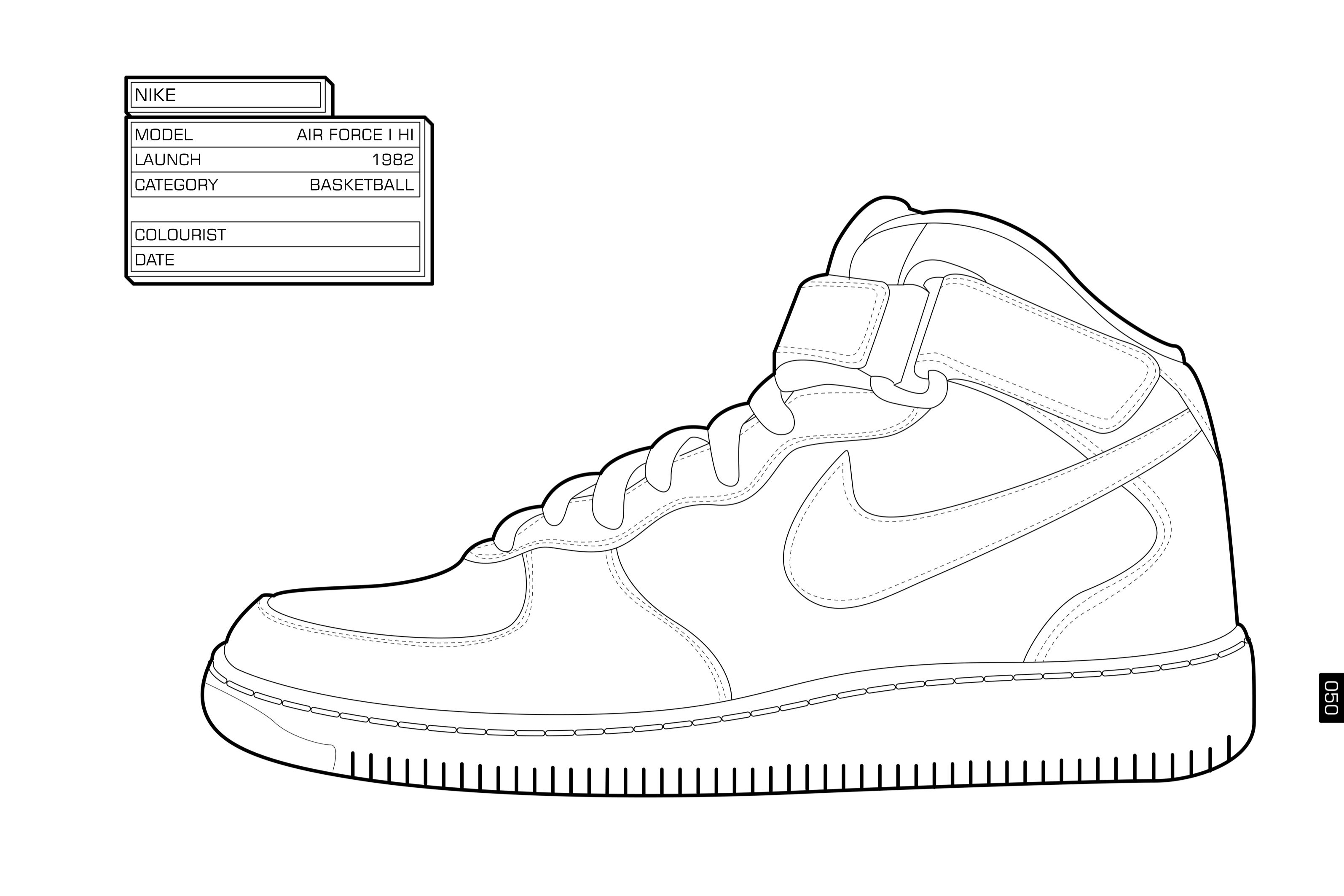 Coloring pages for jordans - Nike Coloring Pages Shoes For Kids And All Ages