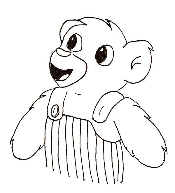 Printable corduroy bear activities sketch coloring page for Corduroy bear coloring page