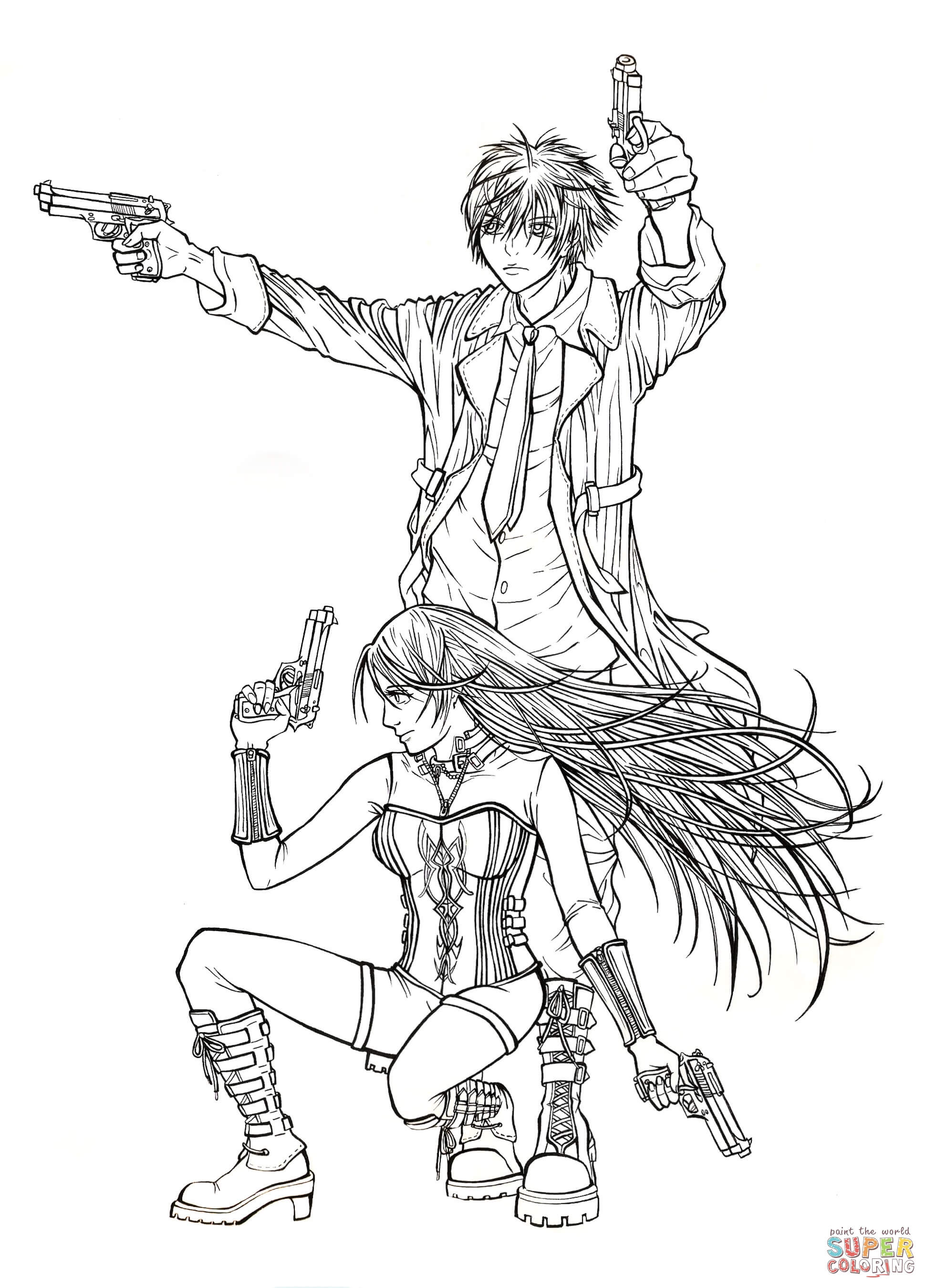 rosario vampire coloring pages coloring home