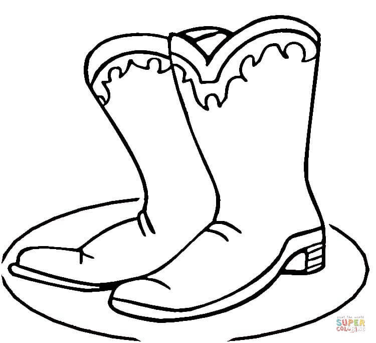 Cowboy Boots coloring page | Free Printable Coloring Pages