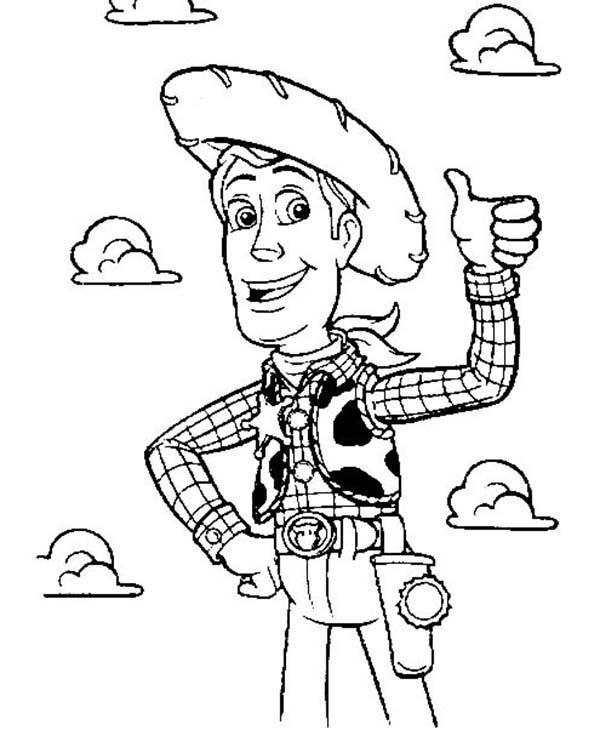 Sheriff Woody From Disney Toy Story Coloring Page Sheriff Woody Coloring Home