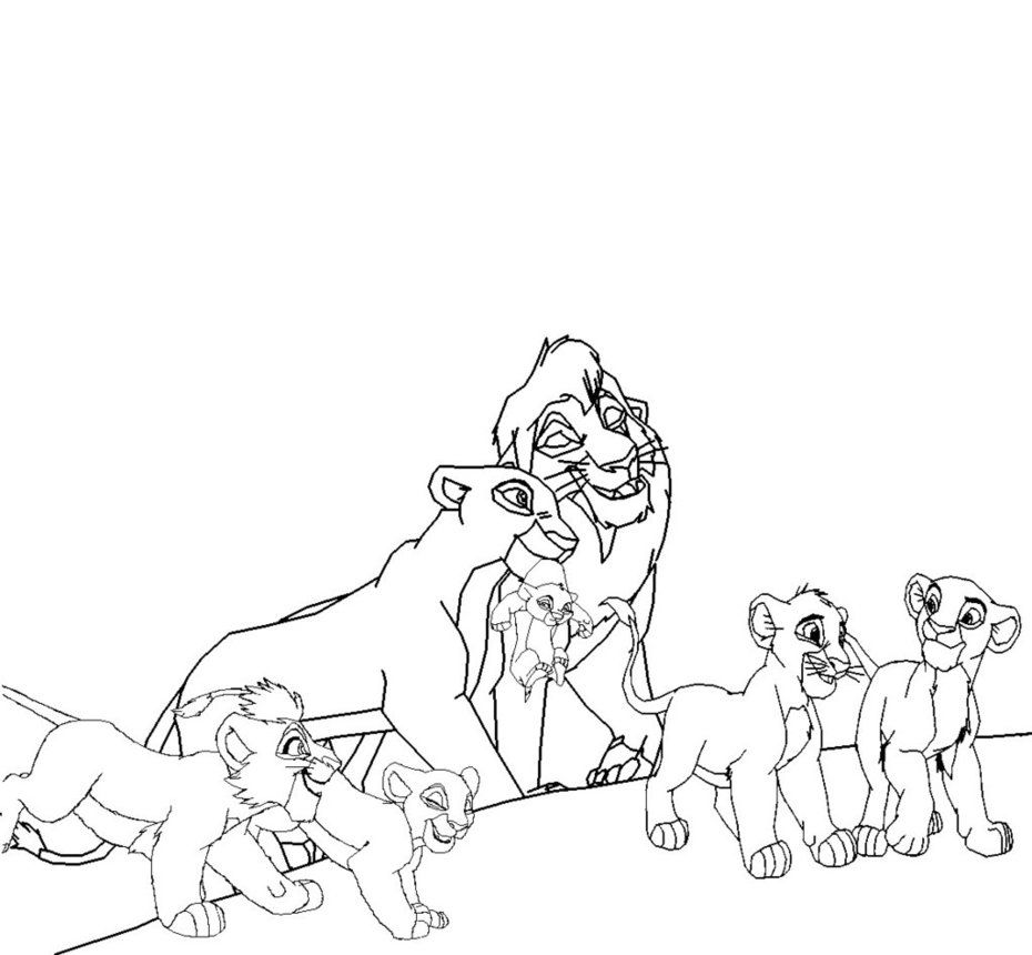 kiara and kovu coloring pages coloring home