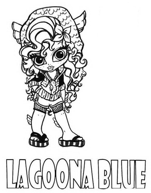 print lagoona blue little girl monster high coloring page or - Girls Coloring Pages Monster High