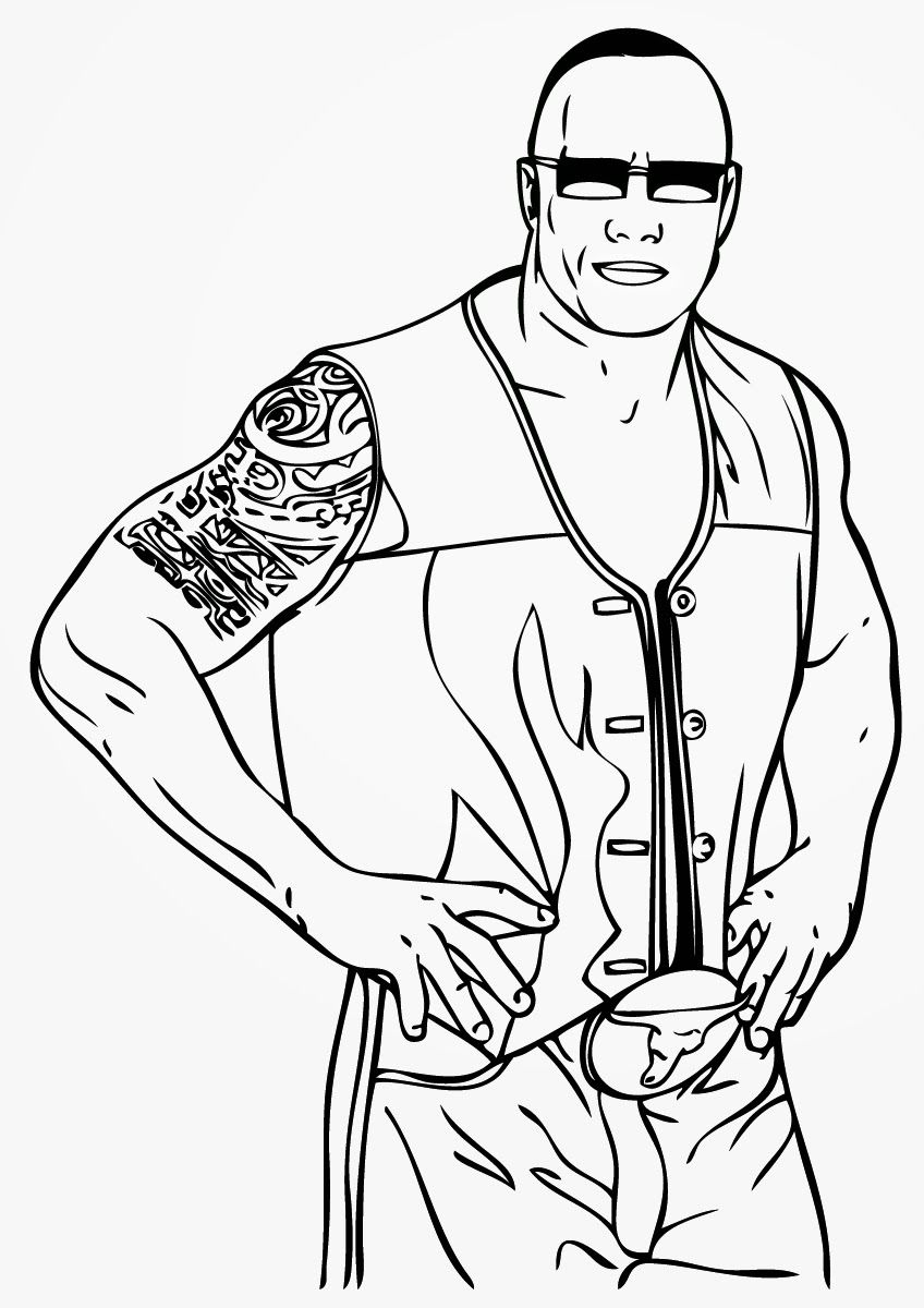 Wwe Coloring Pages Undertaker Coloring Home