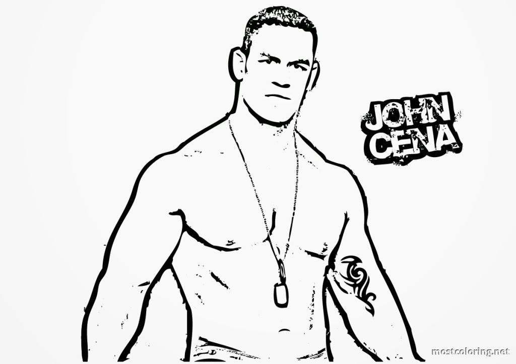 wwe coloring pages john cena coloring pages printable