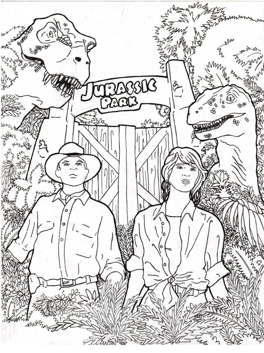 jurassic park coloring page - coloring home