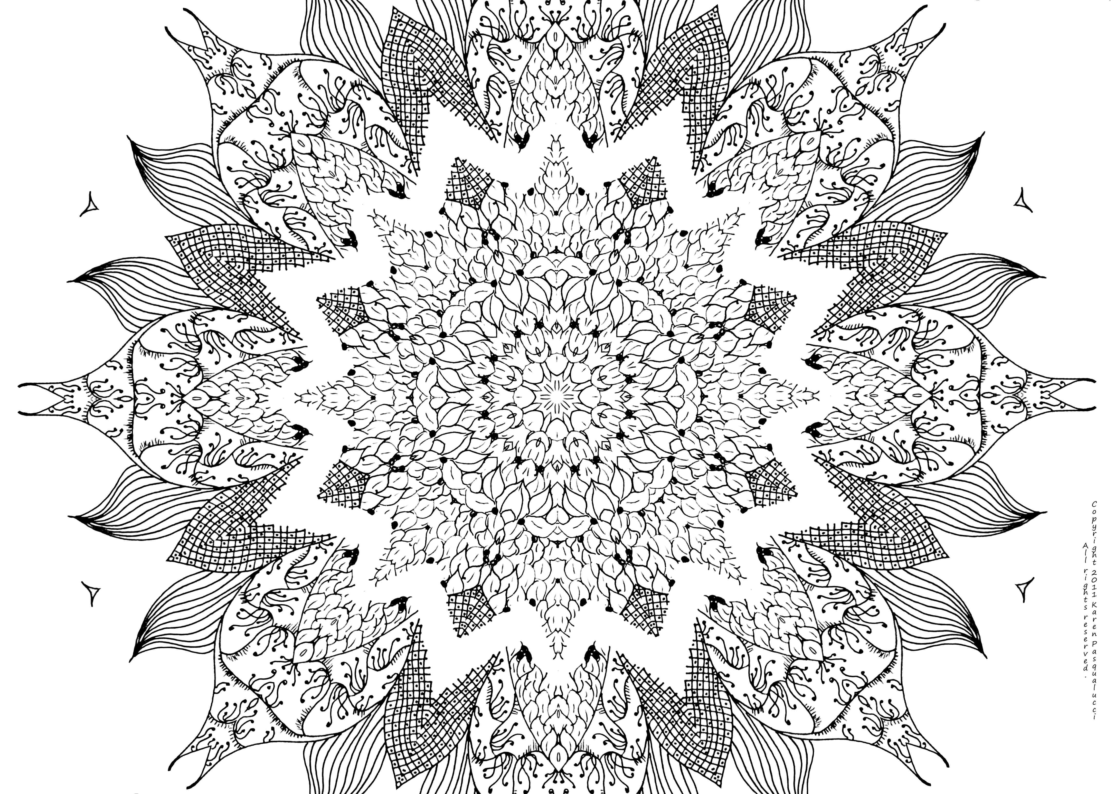 Printable Doodle Art - Coloring Pages For Kids And For Adults ...