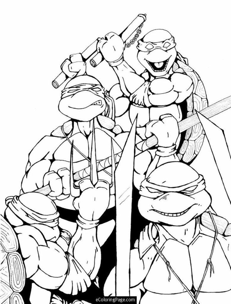 Ninja Turtles Coloring Pages Pdf