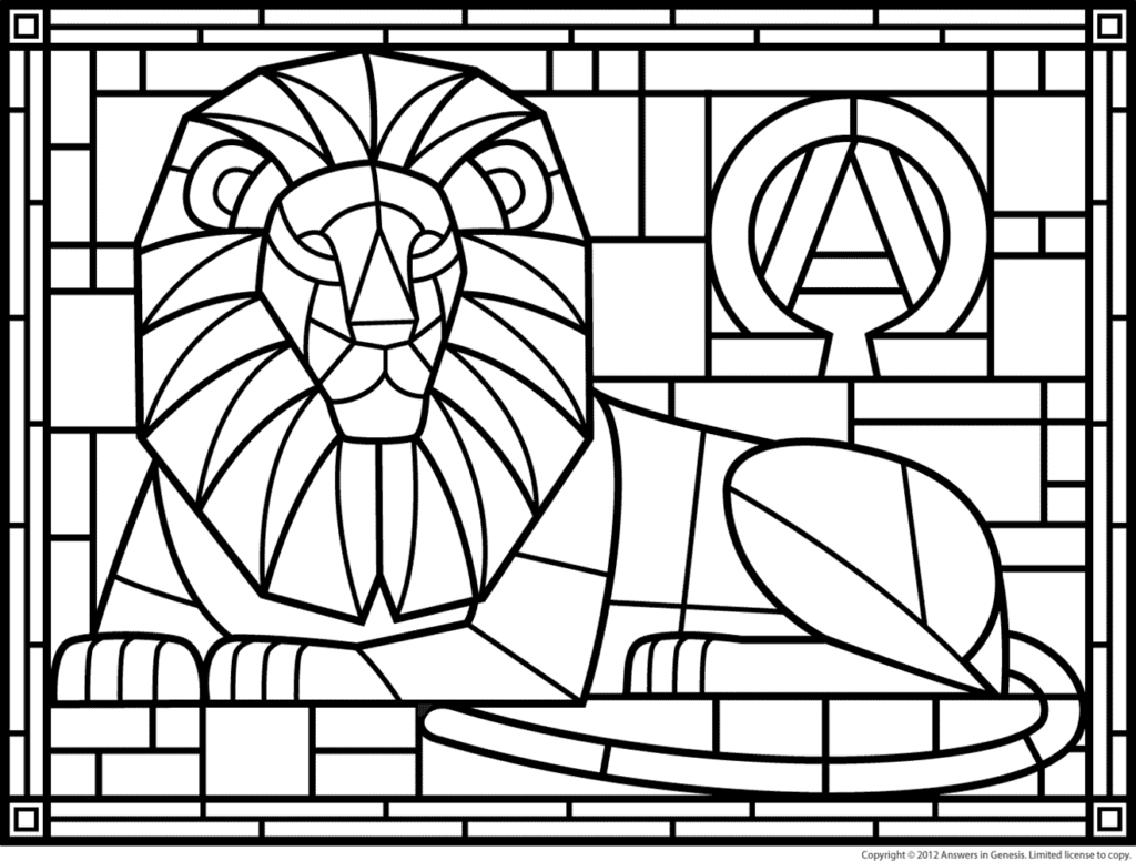 christion stain glass coloring pages | Stained Glass Ichthus Sketch Coloring Page
