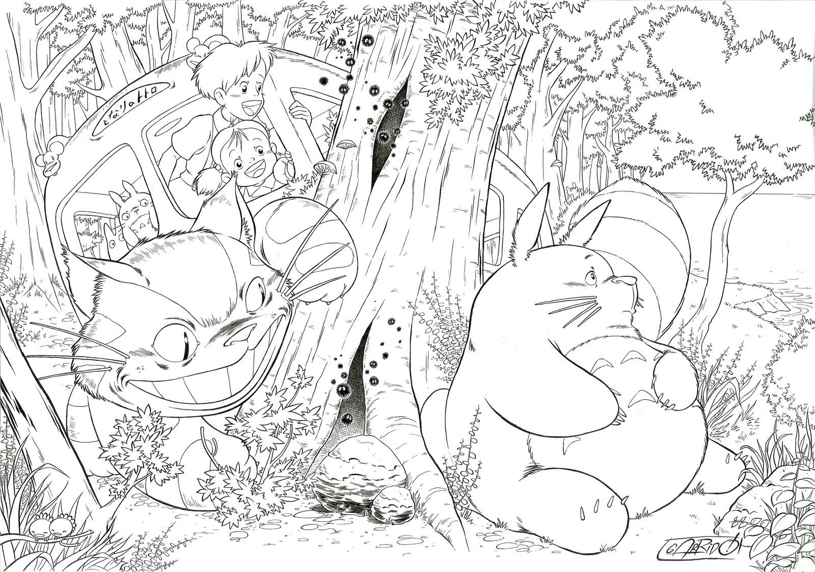 printable totoro coloring pages - coloring home - Neighbor Totoro Coloring Pages
