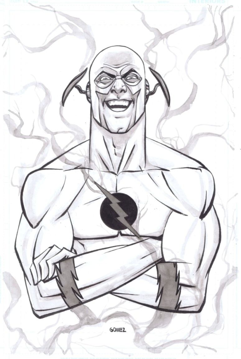 Coloring Pages: Free Coloring Pages Of Kid Flash Flash Cards ...