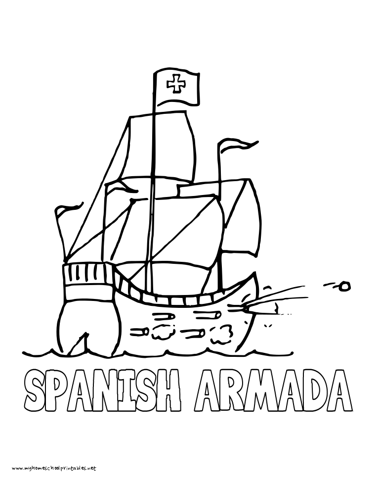 Spanish Armada Coloring Pages