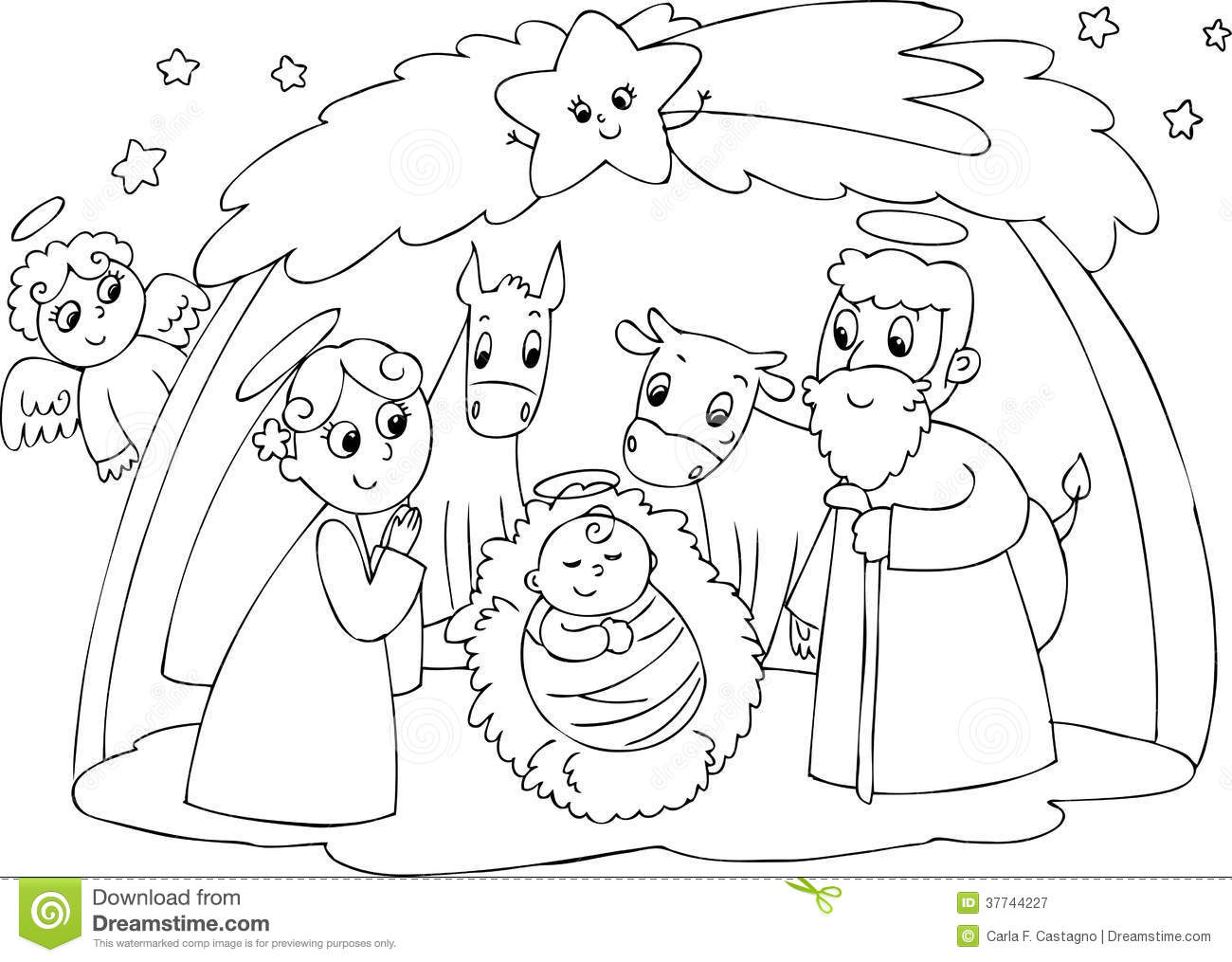 Joseph Coloring Pages Pdf : Pics of nativity joseph coloring page baby jesus