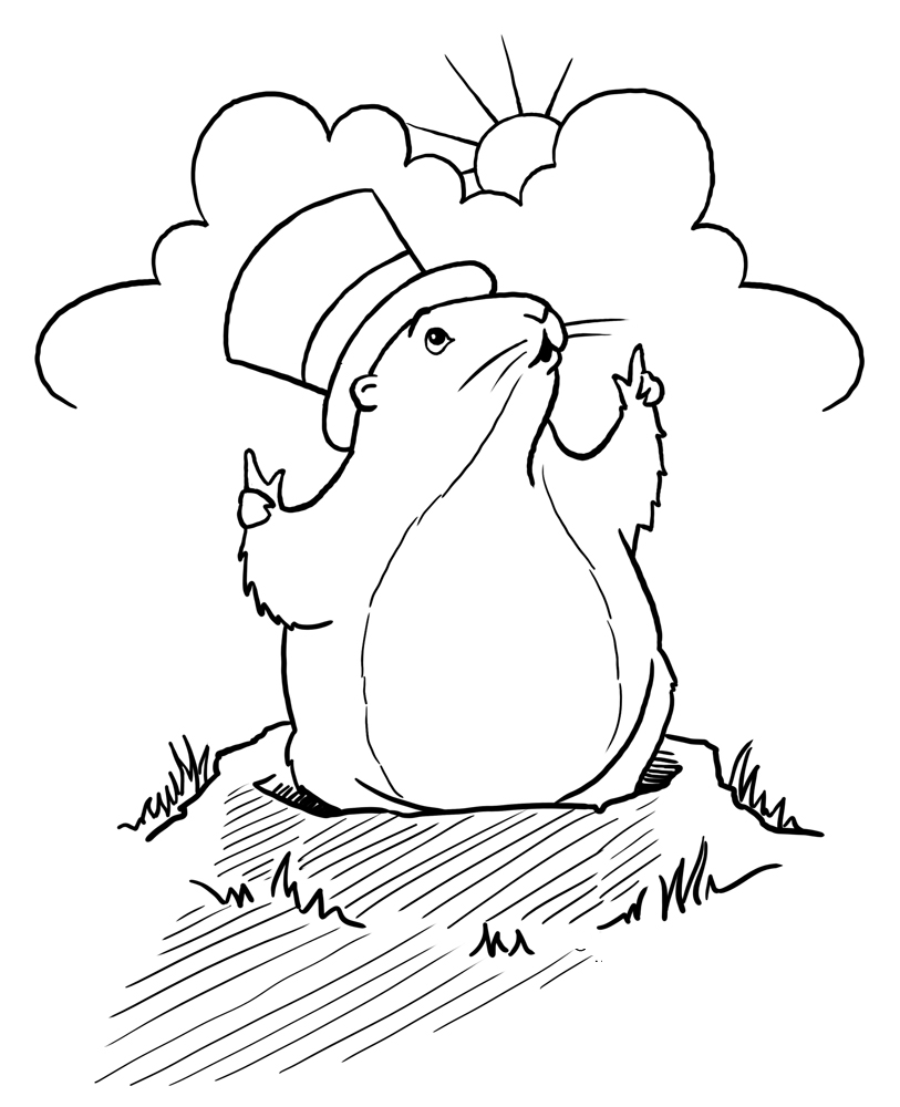 Groundhog Day Coloring Pages - Whataboutmimi.com