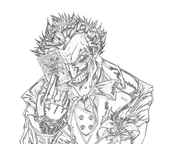 New Coloring Page: the joker coloring pages | Coloring Yard
