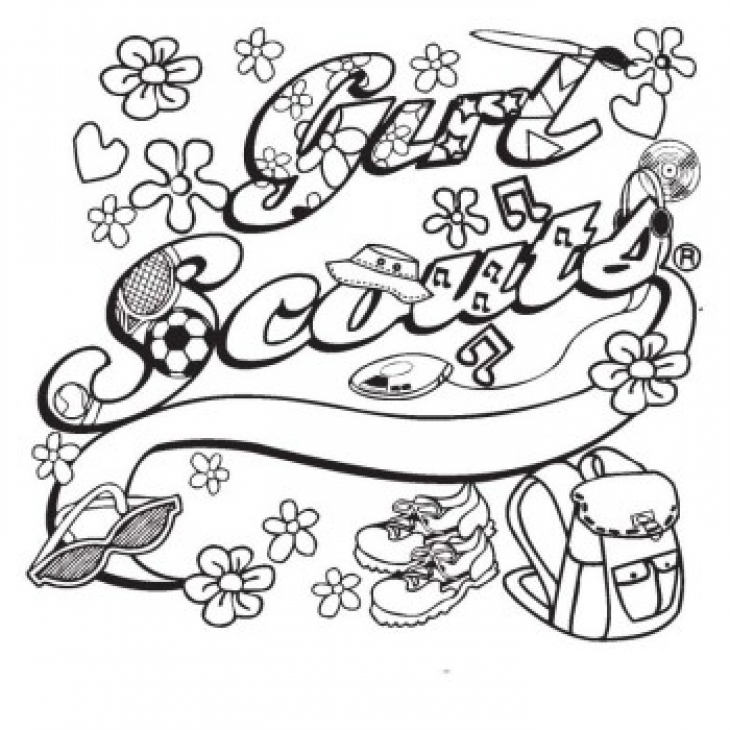 Girl Scouts Coloring Pages Coloring Home Coloring Pages For Scouts