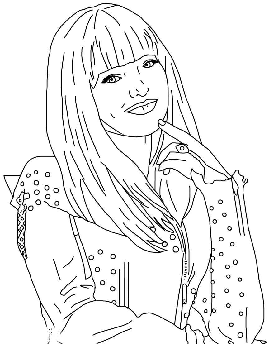 Coloring Book : Descendants Coloring Pictures Pages ...