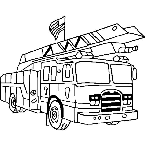 Best Coloring Pages Fire Truck Images Amazing Printable Coloring