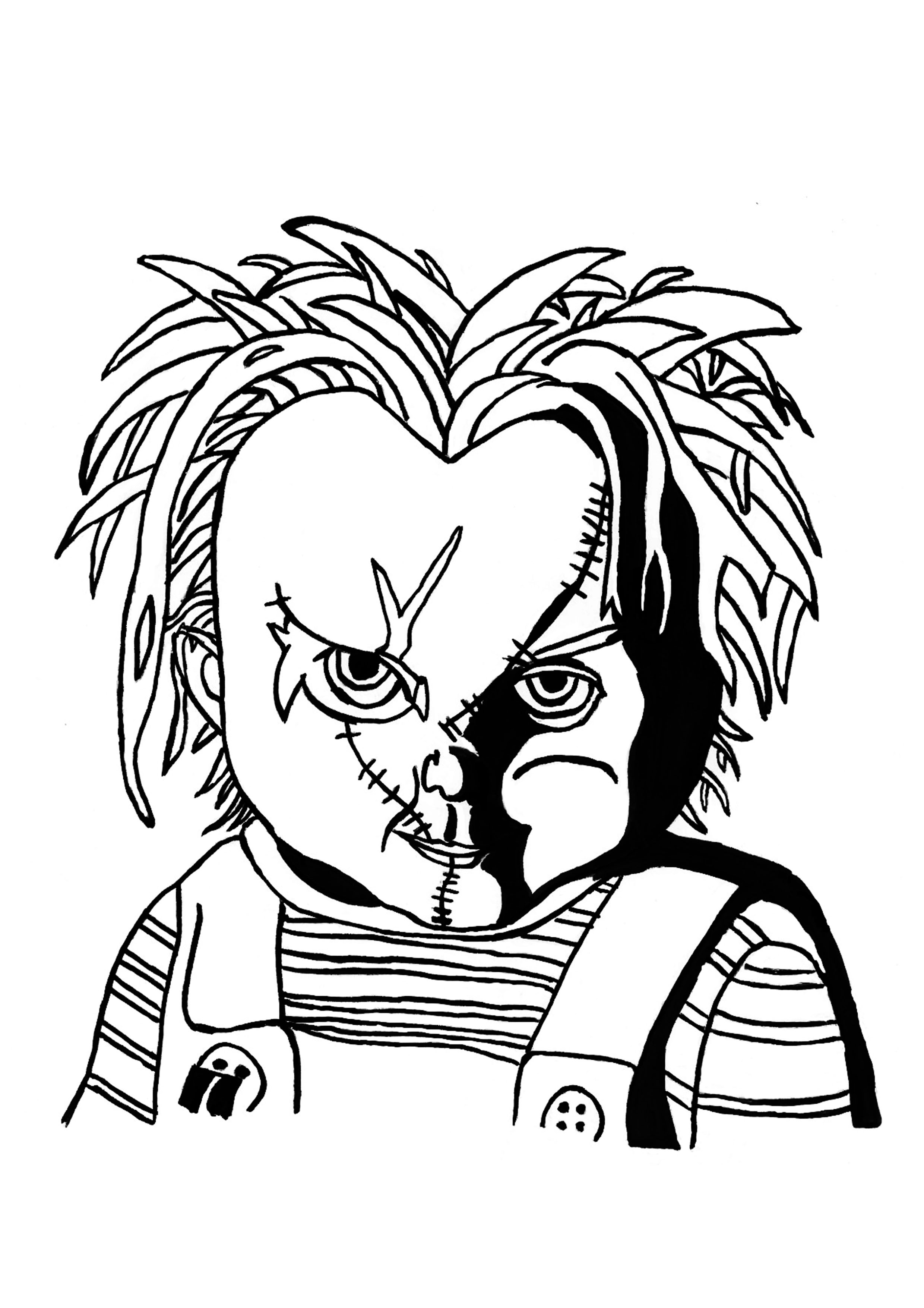 Chucky Coloring Pages - Coloring Home