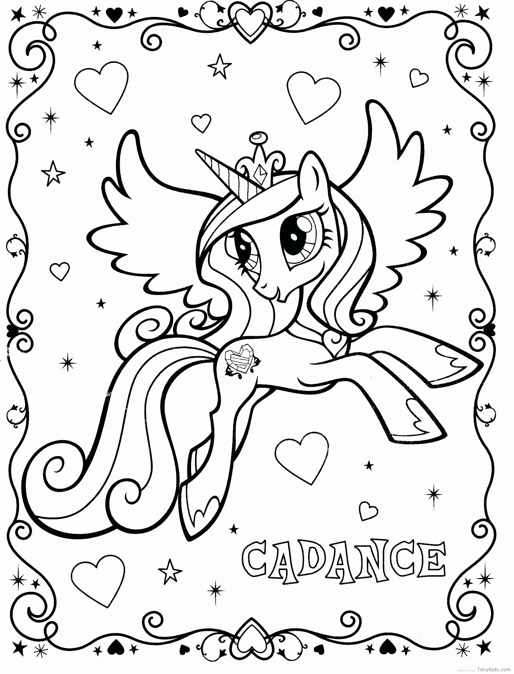 Princess Cadance Coloring Pages - Coloring Home