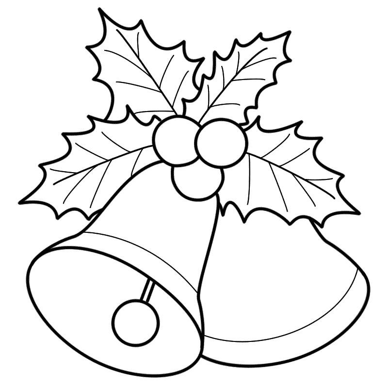 Free Coloring Pages Christmas Bells