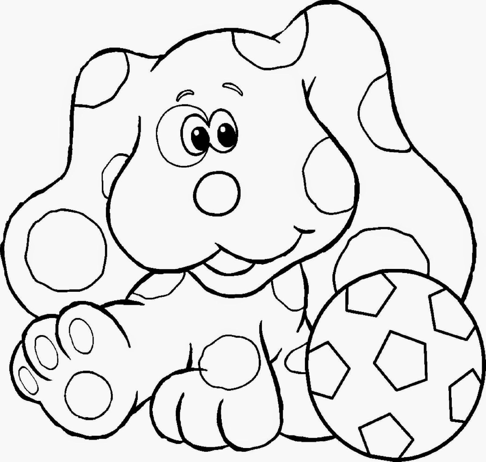 Adult Best Blue Clues Coloring Pages Images beauty blues clues colouring bookmark coloring pages free printable gallery images