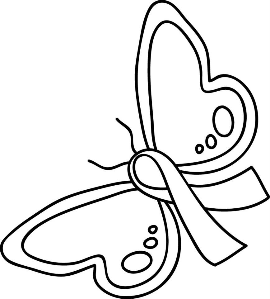Breast Cancer Ribbon Coloring Sheet - Cliparts.co