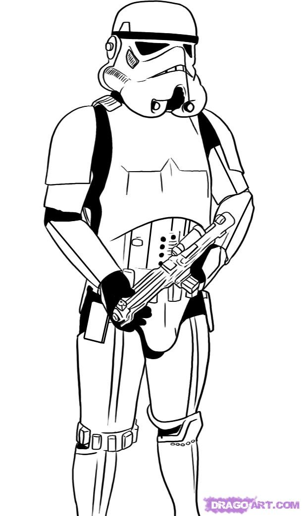 photo relating to Stormtrooper Printable named Star Wars Stormtrooper Coloring Internet pages Printable - Coloring Residence