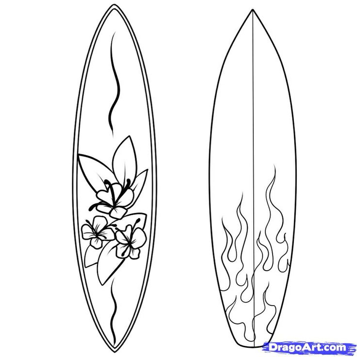 Surfboard Coloring Page Coloring Home Surfboard Coloring Page