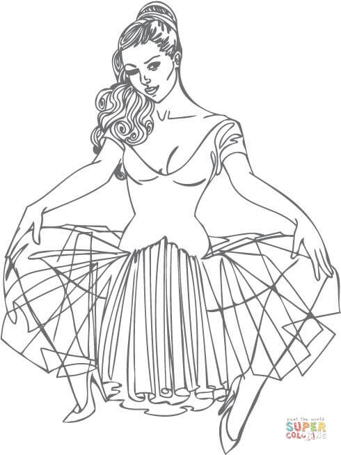 - Pin Up Girl Coloring Pages - Coloring Home