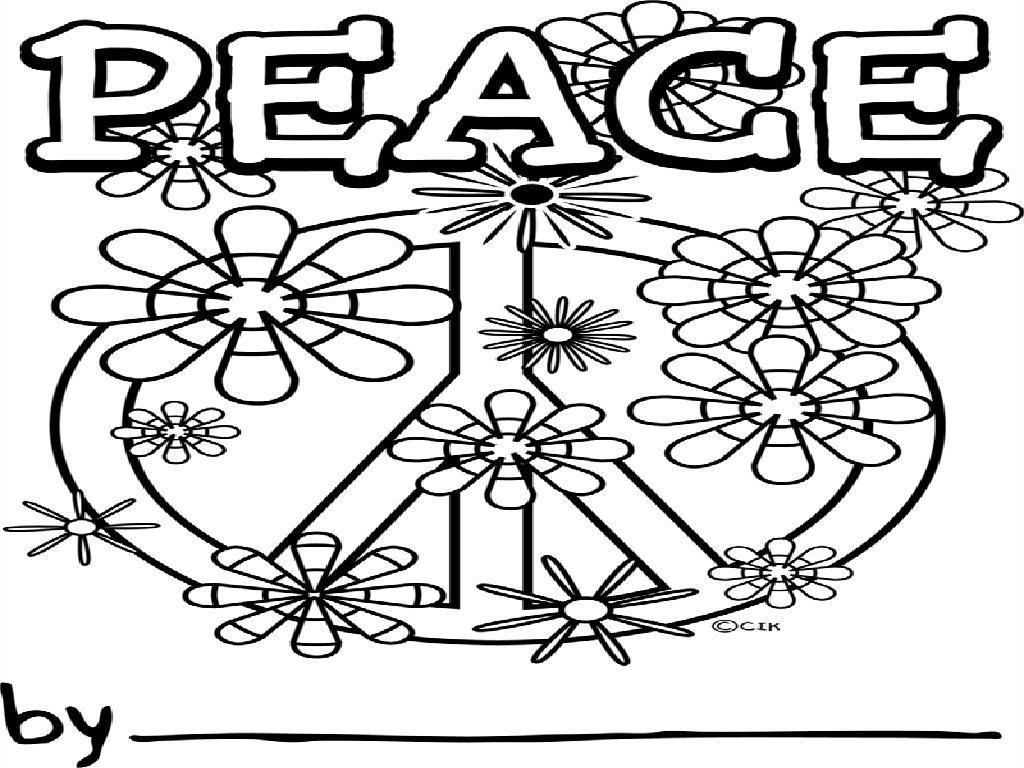peace coloring pages - photo#23