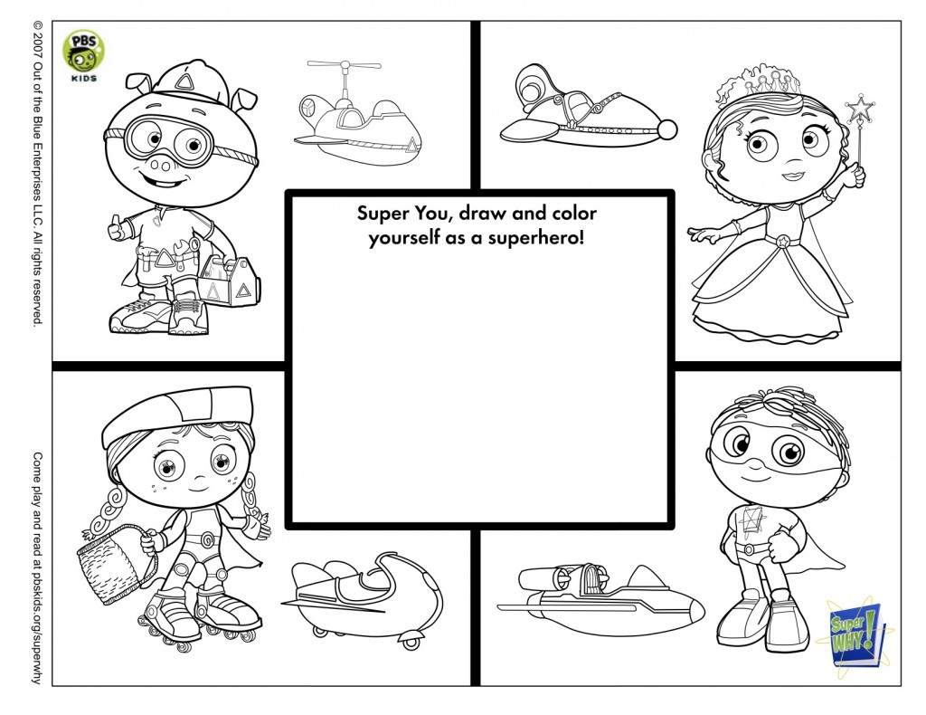 super why printable coloring pages - photo#24