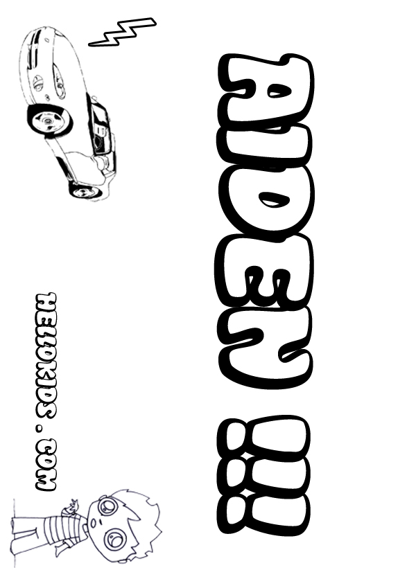 Free Printable Name Coloring Pages