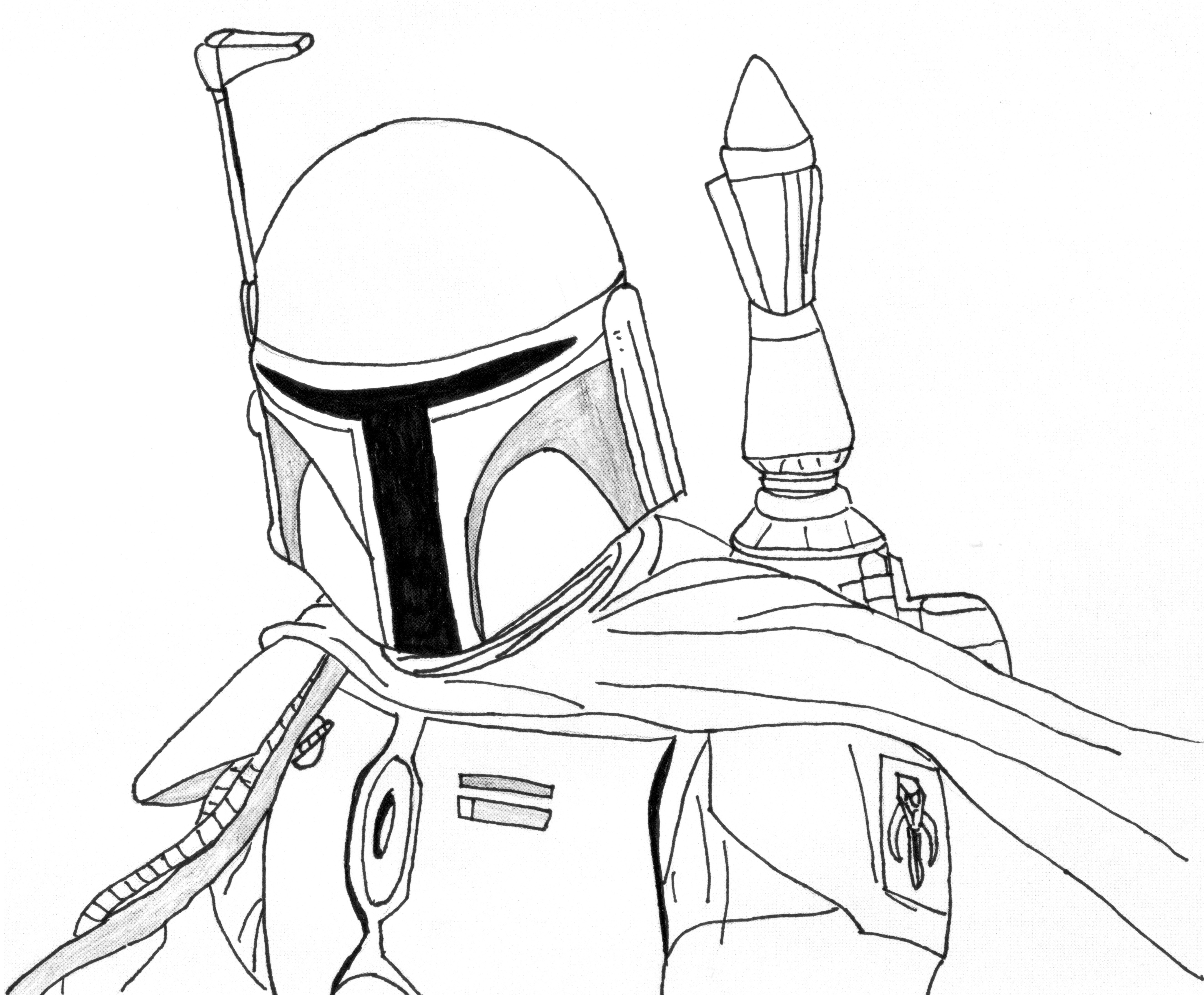 star wars coloring page boba fett - Boba Fett Coloring Pages Printable