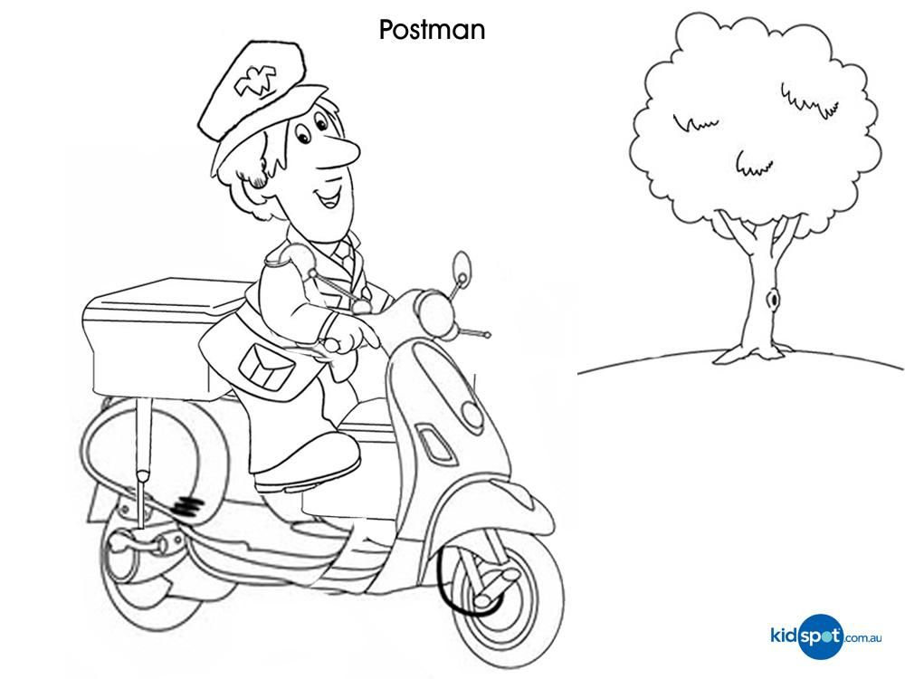 printable mailman coloring pages - photo#17