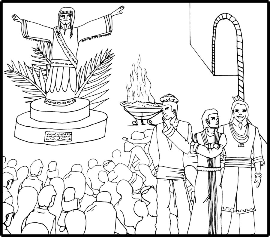 Daniel Shadrach Meshach And Abednego Coloring Page