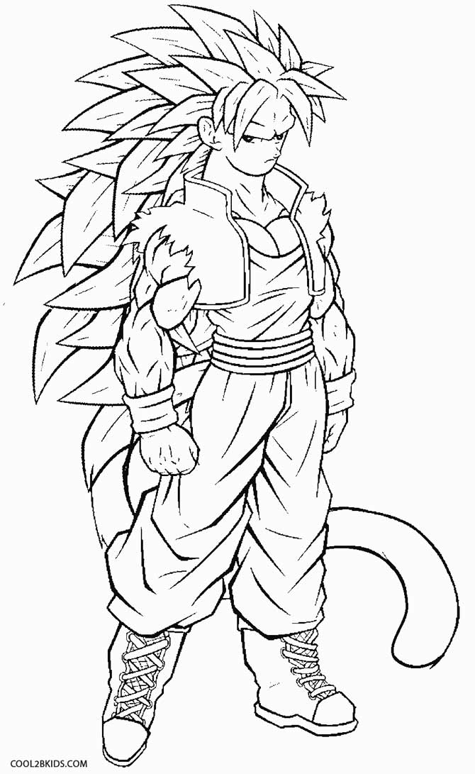 Ssj4 Goku Coloring Page Coloring Home