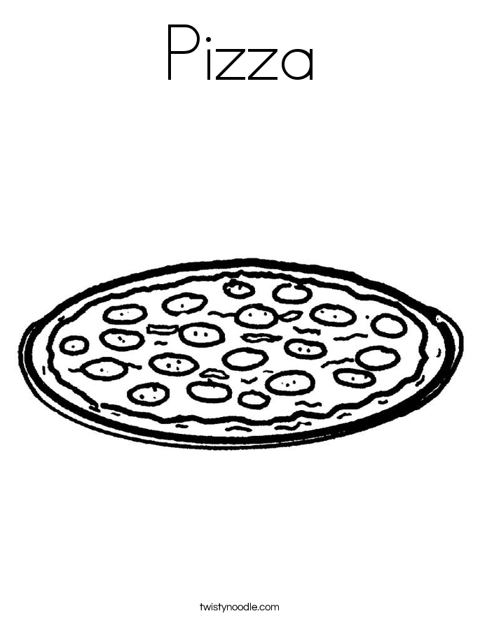 Is For Pizza Coloring Sheet : Pizza Coloring Sheet Coloring Home