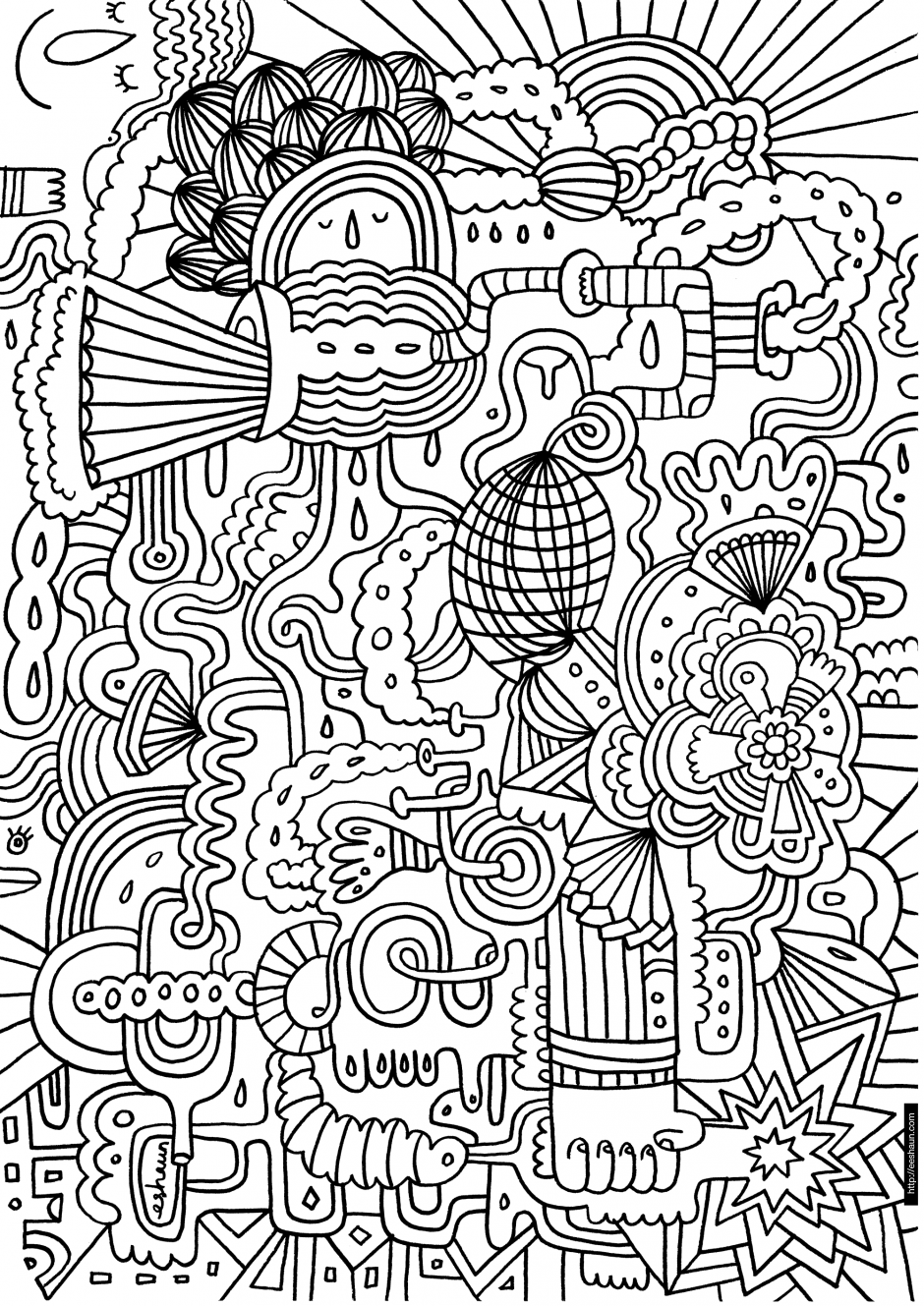 complicated printable coloring pages for kids and for adults