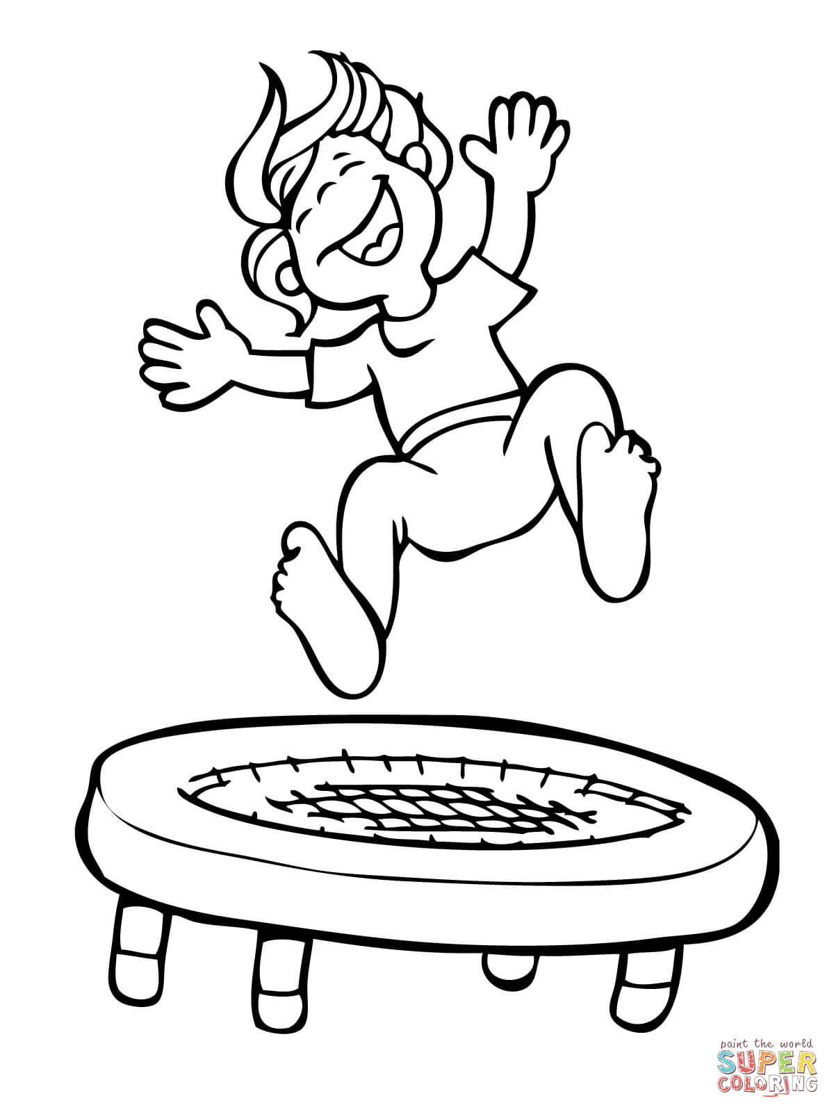 Jump Coloring Page - Coloring Home