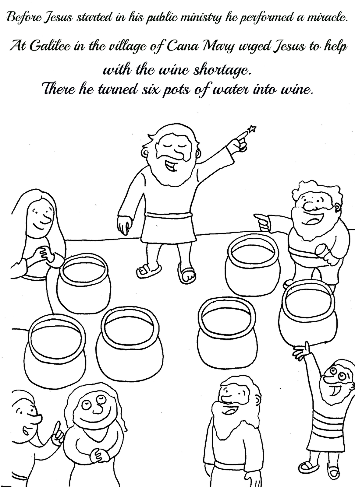 coloring pages miracles of jesus - photo#36