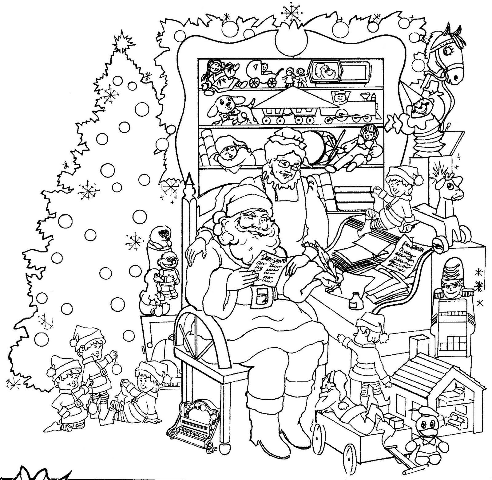intricate coloring pages christmas - photo#6