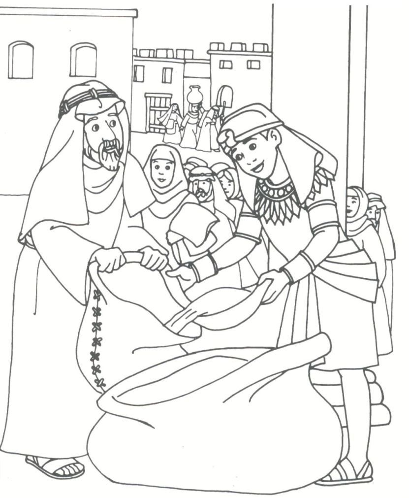Best Photos of Joseph In Egypt Coloring Pages - Joseph and His ...