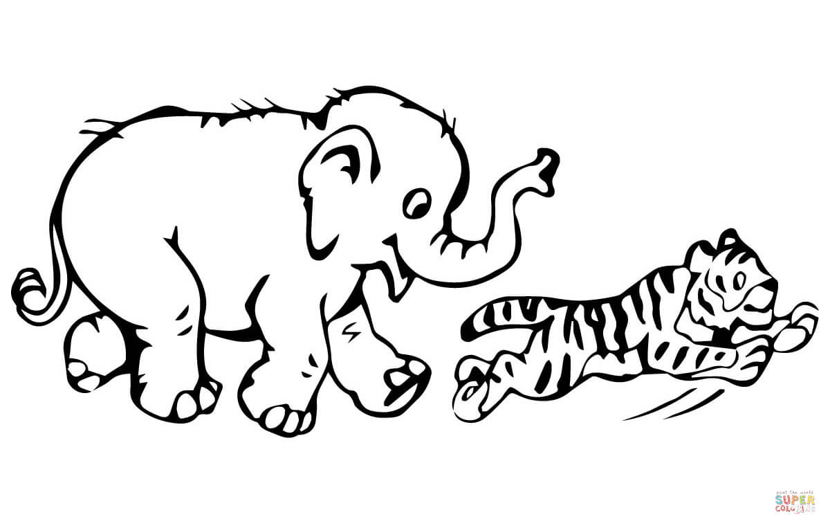 Kleurplaat Tijger Printen Coloring Pages Tiger Cubs Coloring Home