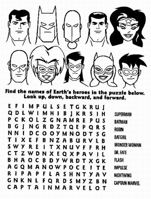 Coloring Pages Of Superheroes Printables Home